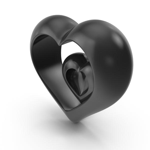 Сердце V5 Черное