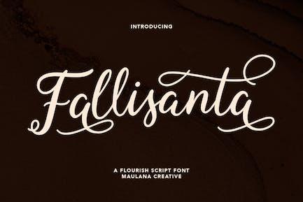 Fallisanta Flourish Font