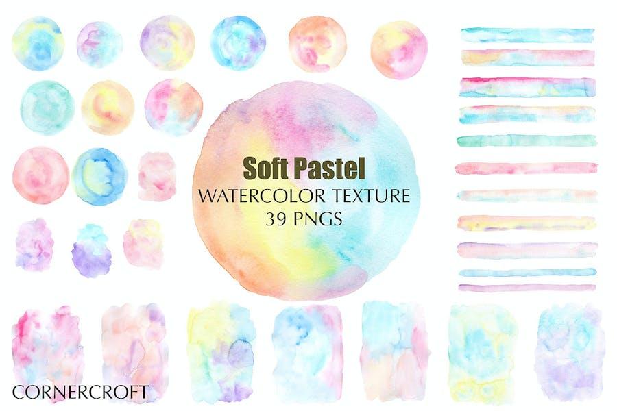Watercolor Texture Soft Pastel