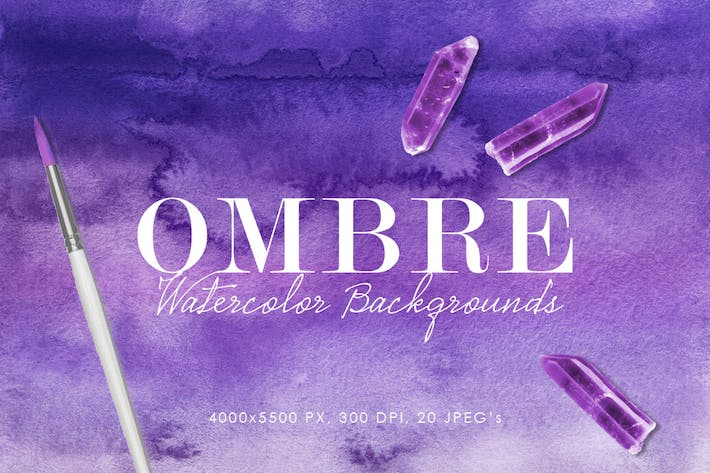 Thumbnail for Ombre Watercolor Backgrounds