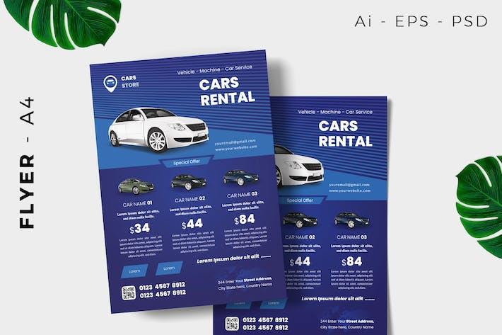 Car Rental Flyer Design