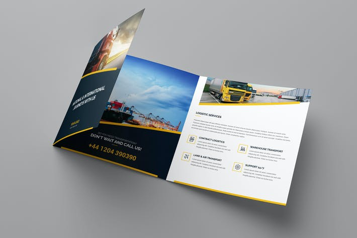 Thumbnail for Brochure – Logistic Tri-Fold Square