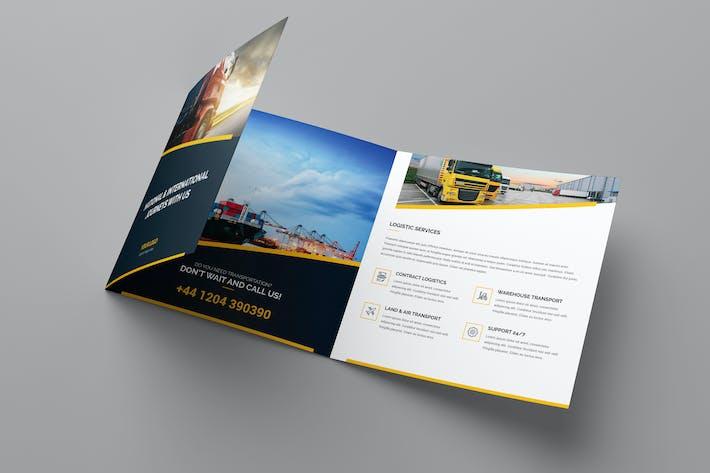 Cover Image For Brochure – Logistic Tri-Fold Square