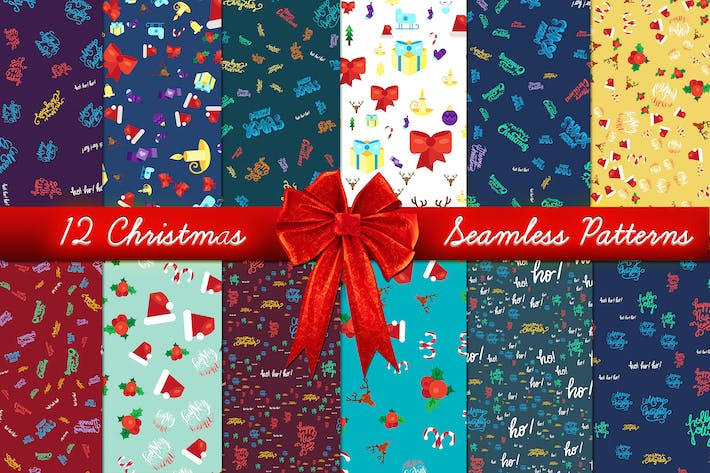 Thumbnail for Christmas Seamless Patterns Set