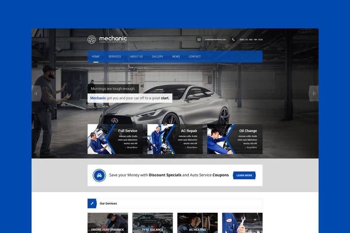 Thumbnail for Mechanic - Car Service & Repair Workshop Template