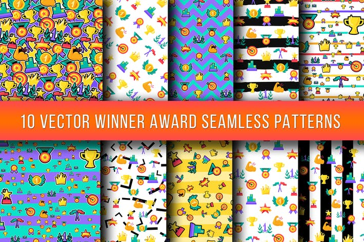 Thumbnail for Winner Awards Seamless Patterns