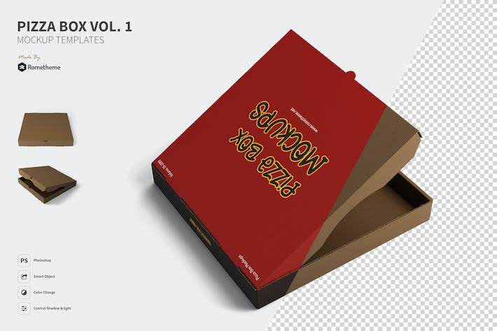 Thumbnail for Pizza Box Mockups vol.1
