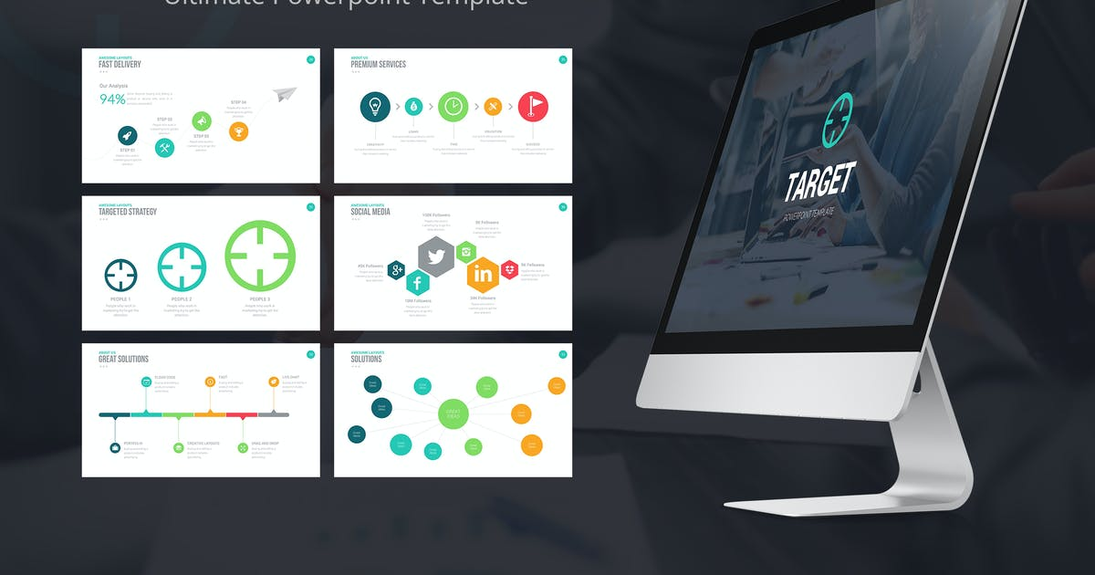 Download Target Powerpoint Template by slidefusion