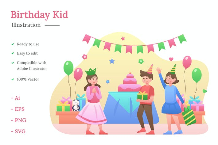 Thumbnail for Geburtstagskind Illustration