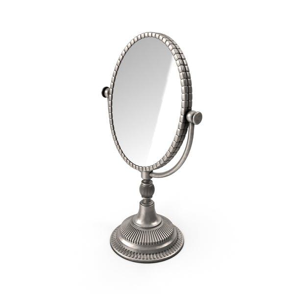 Espejo ovalado plateado