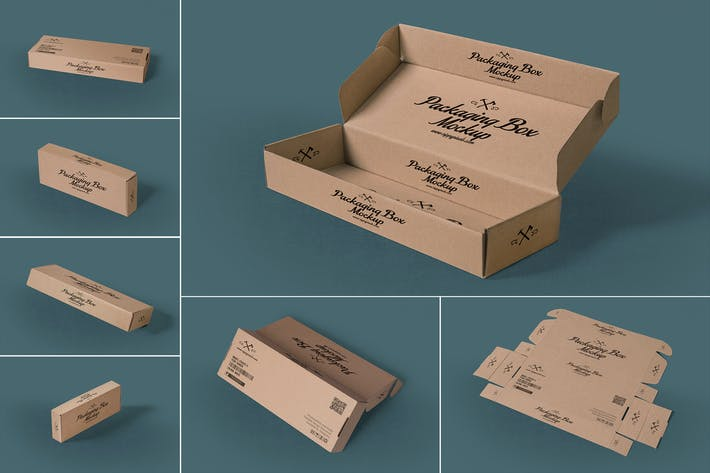 Thumbnail for 7 Rectangular Packaging Box Mockups