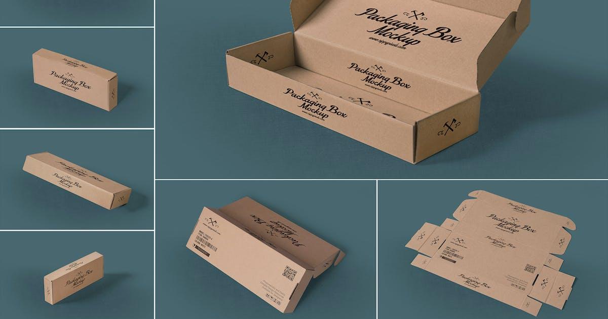 Download 7 Rectangular Packaging Box Mockups by zippypixels