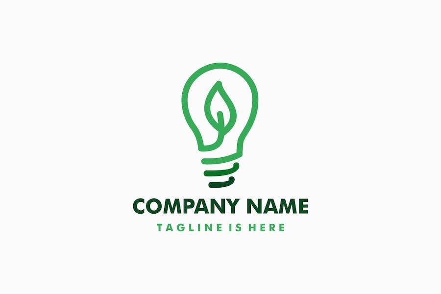 Leaf Bulb Logo