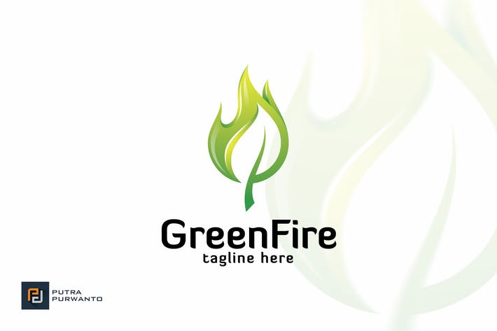 Thumbnail for Green Fire - Logo Template