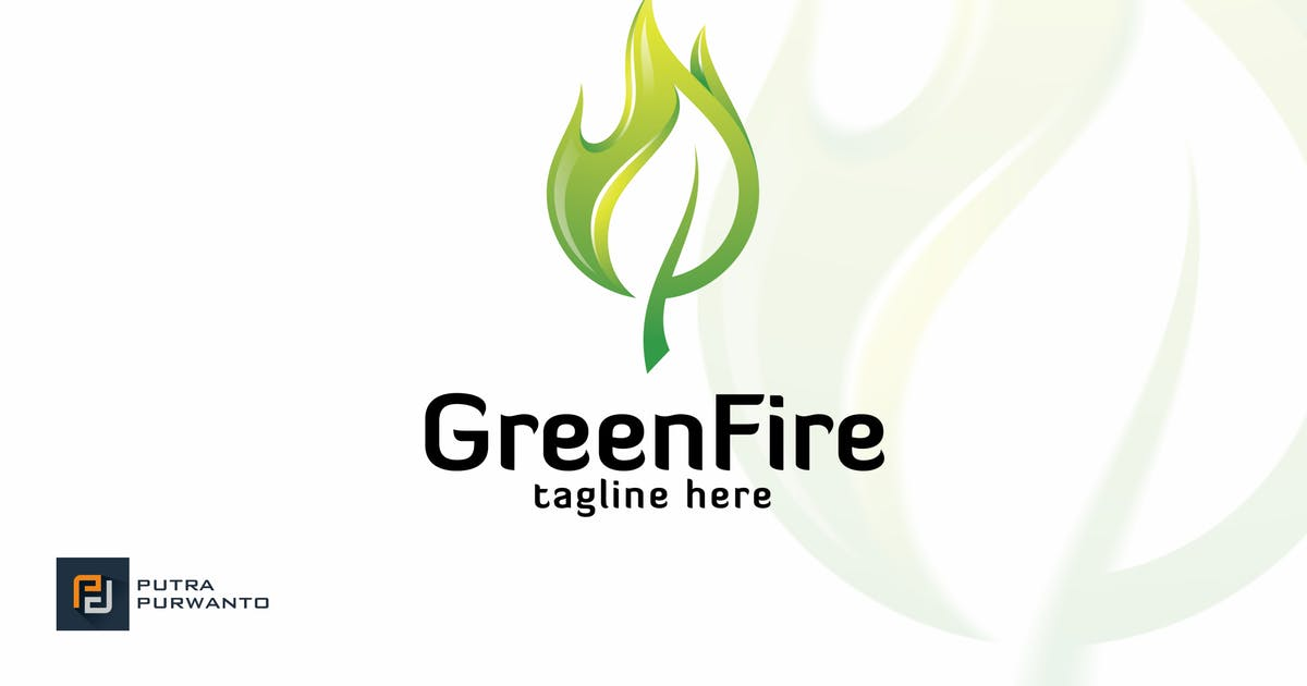 Download Green Fire - Logo Template by putra_purwanto