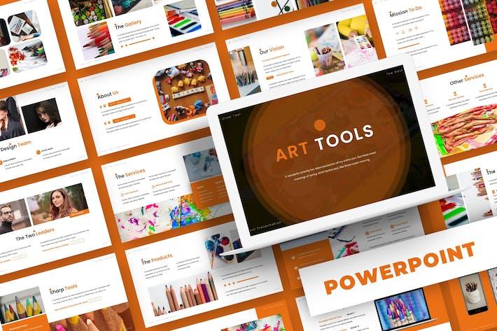 Thumbnail for Инструменты искусства - Powerpoint Шаблон