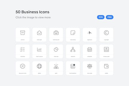 Business icons — Line