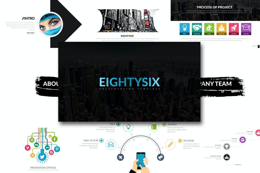 Eighty 6 - Powerpoint Template