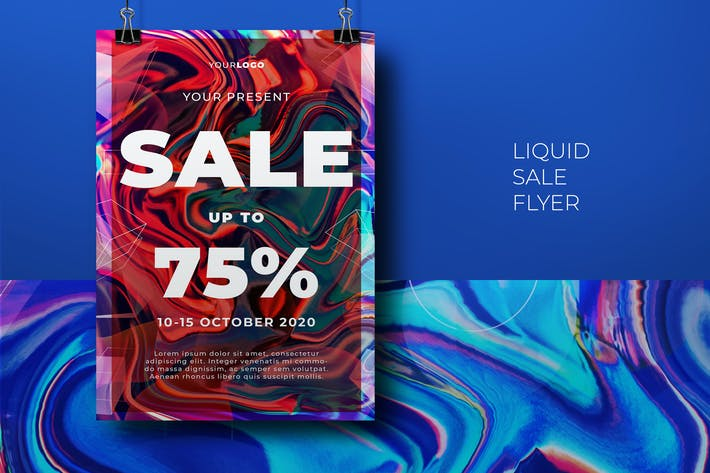 Thumbnail for Liquid Sale Flyer Template
