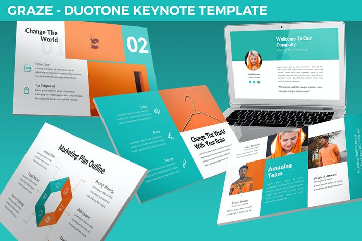 Thumbnail for Graze - Keynote Presentation Template