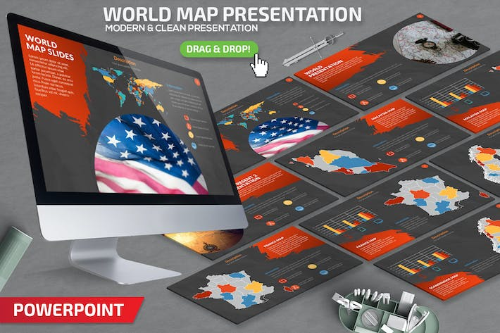 Thumbnail for World Map Powerpoint