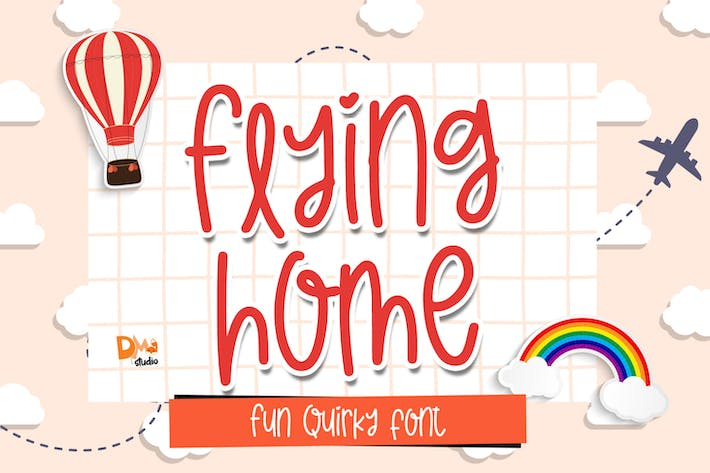 Thumbnail for Flying Home - Quirky Font