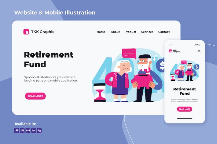 Thumbnail for Retirement fund investment web and mobile