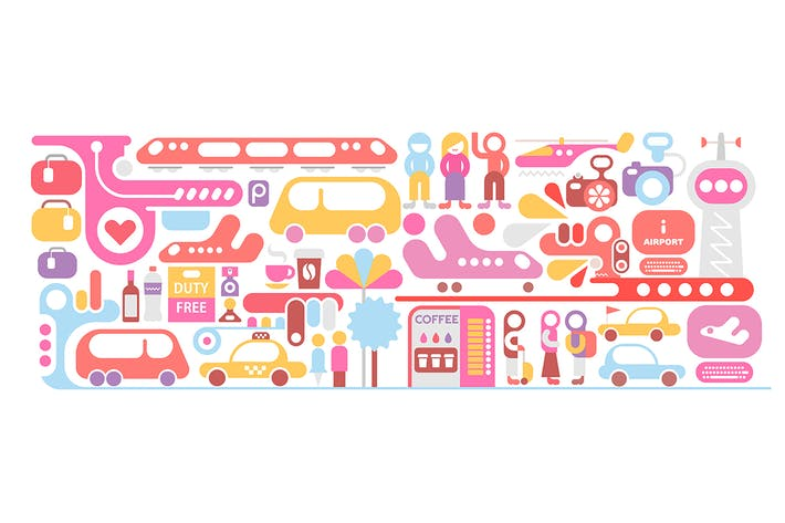 Thumbnail for Airport Vector Iliustration isolated on a white
