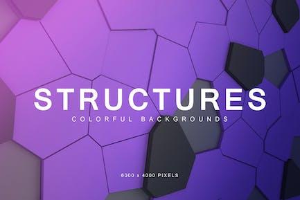 Bunte Strukturen Hintergründe