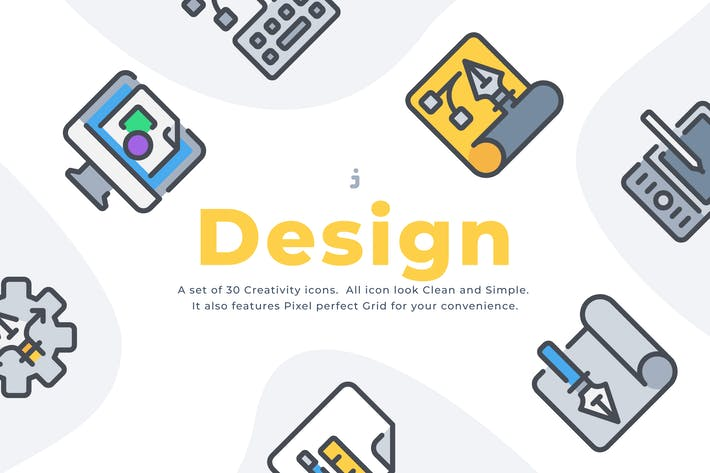 Thumbnail for 50 Creativity and design icon set