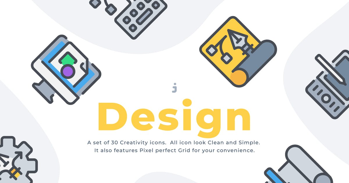 Download 50 Creativity and design icon set by Justicon