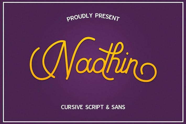 Thumbnail for Nadhin Script & Sans