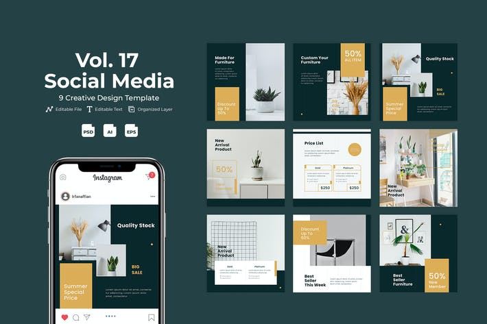 Purnitur - Social Media Kit. Vol 17