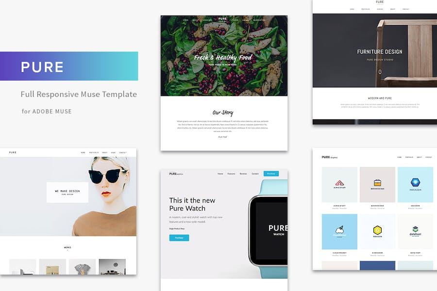 Pure - Responsive Creative Portfolio Muse Template by