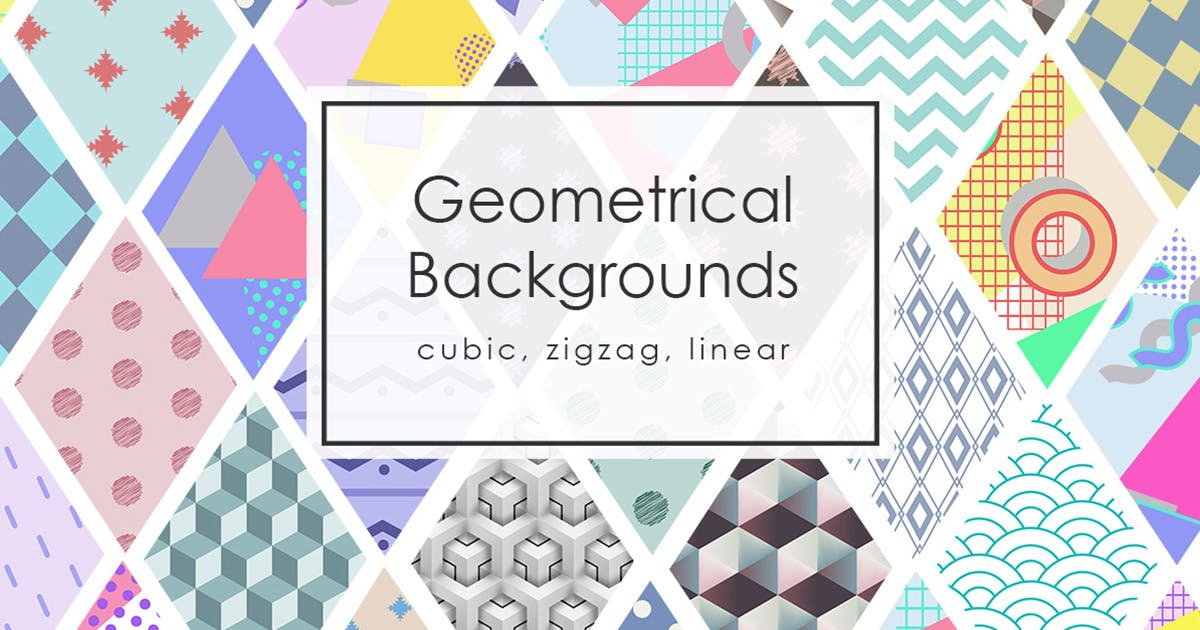 Download 42 Geomertic Backgrounds by NassyArt