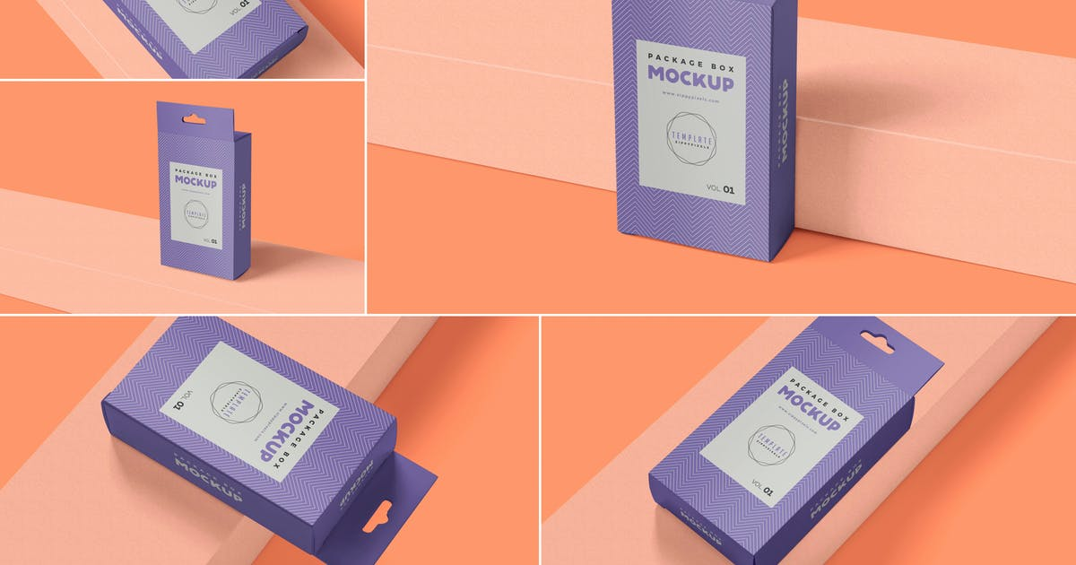 Download Paper Box Mockups With Hanger by zippypixels