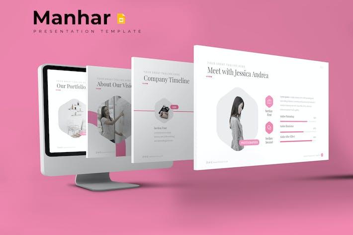 Thumbnail for Manhar - Google Slides Template