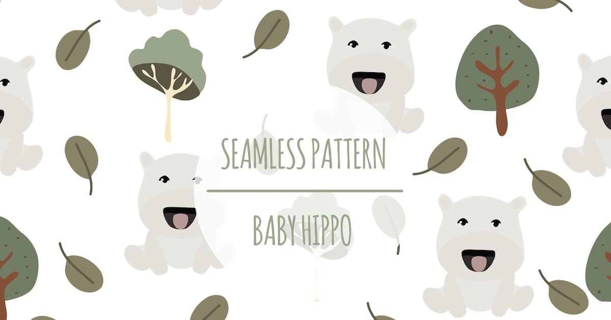 Download Baby Hippo – Seamless Pattern by designesto