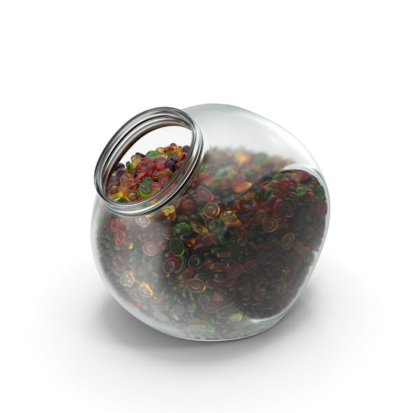 Spherical Jar With Oval Hard Candy