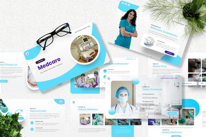 Medcare - Virus Medical Powerpoint Template