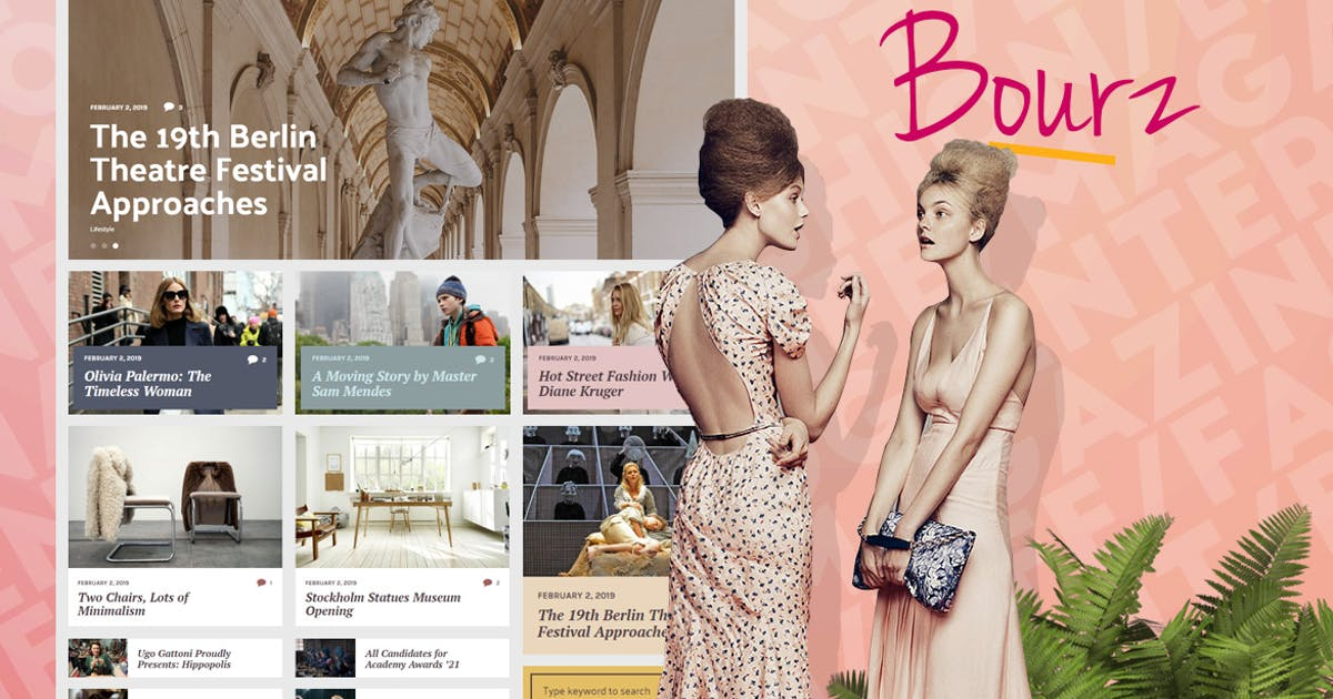 Download Bourz - Life & Entertainment Magazine Theme by Burnhambox