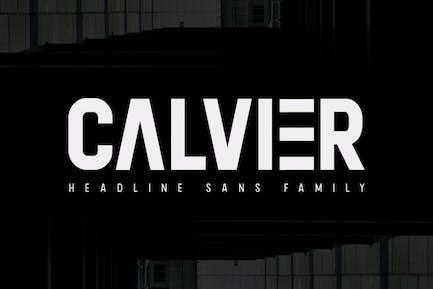 Calvier - Headline Sans Family