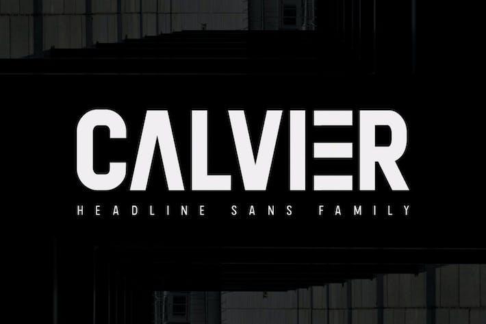 Thumbnail for Calvier - Headline Sans Family
