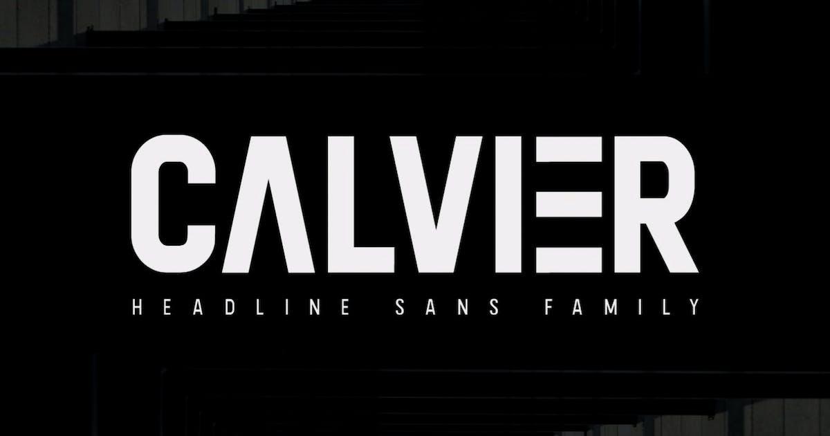 Download Calvier - Headline Sans Family by mlkwsn