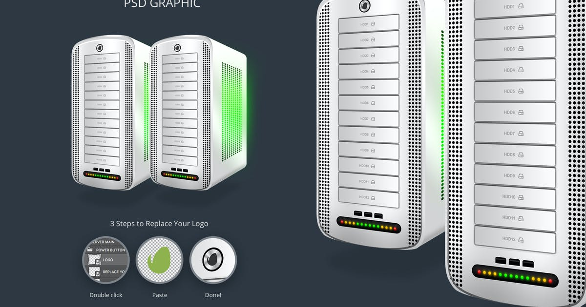 Download Hosting Server Pro Series WHITE Left View by themeboo