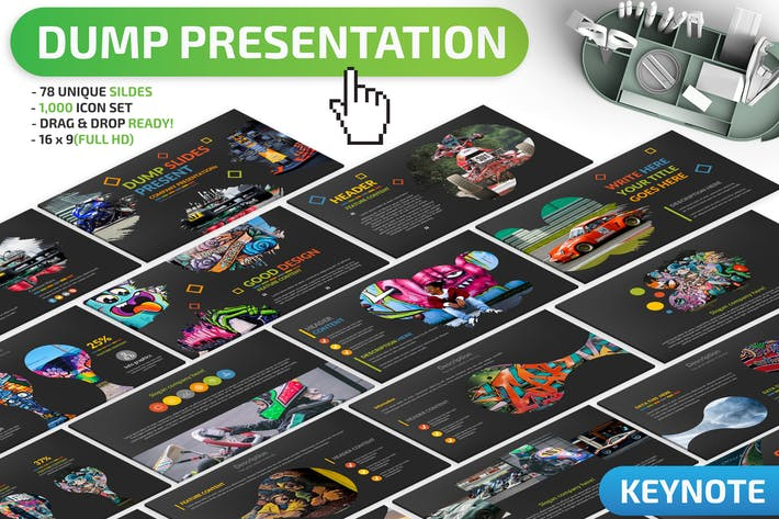 Thumbnail for Dump Keynote Presentation Template