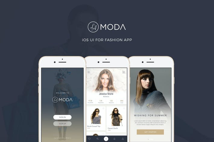 Thumbnail for LaModa Fashion iOS App UI