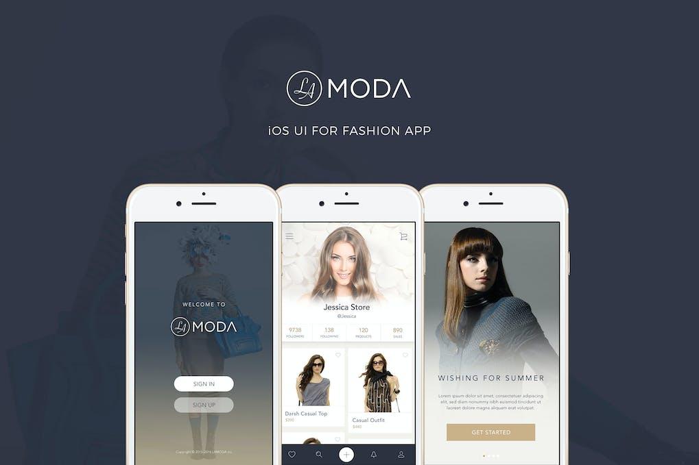 LaModa-Fashion-iOS-App-UI