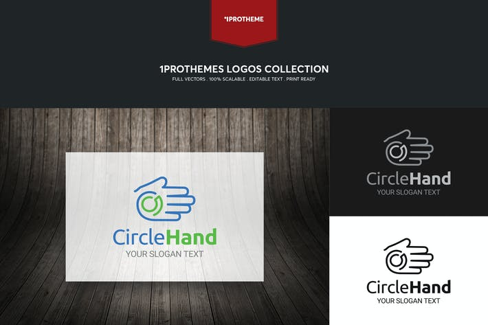 Thumbnail for Circle Hand Logo Template