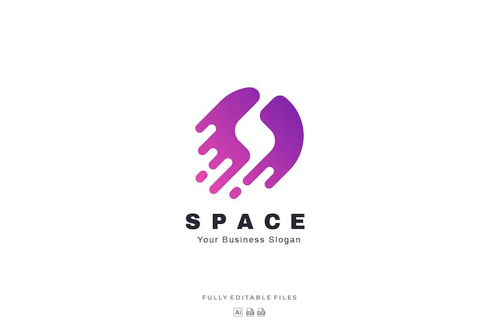 Abstract Letter S Space Color Logo